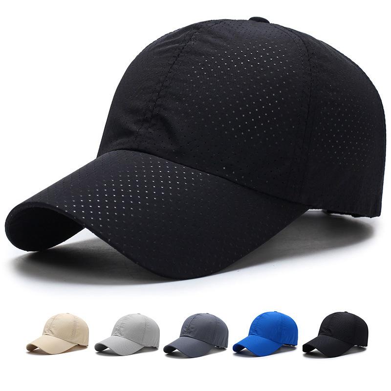 men women golf mesh plain hat summer